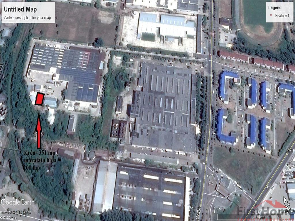 Hala zona Sud spate Insta Electrica,351 mp teren, 200 mp hala