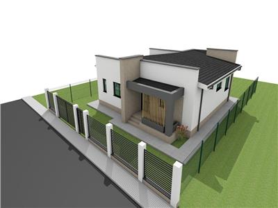Parter , living + bucatarie, 2 dormitoare, baie, terasa 75.000 Euro