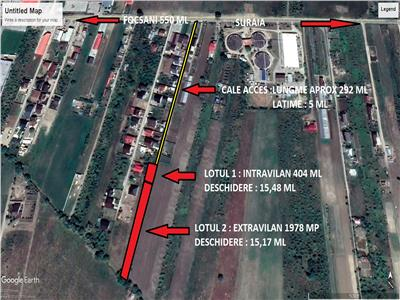 teren intravilan 404 mp+teren extravilan 1978 mp Zona Onasis-case
