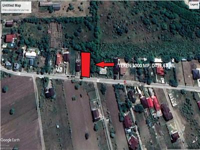 teren 1000 mp ,d=18,63 zona Laminoru, str Militari